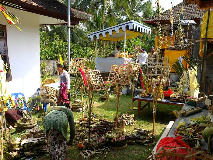 Mecaru ceremony in Bali