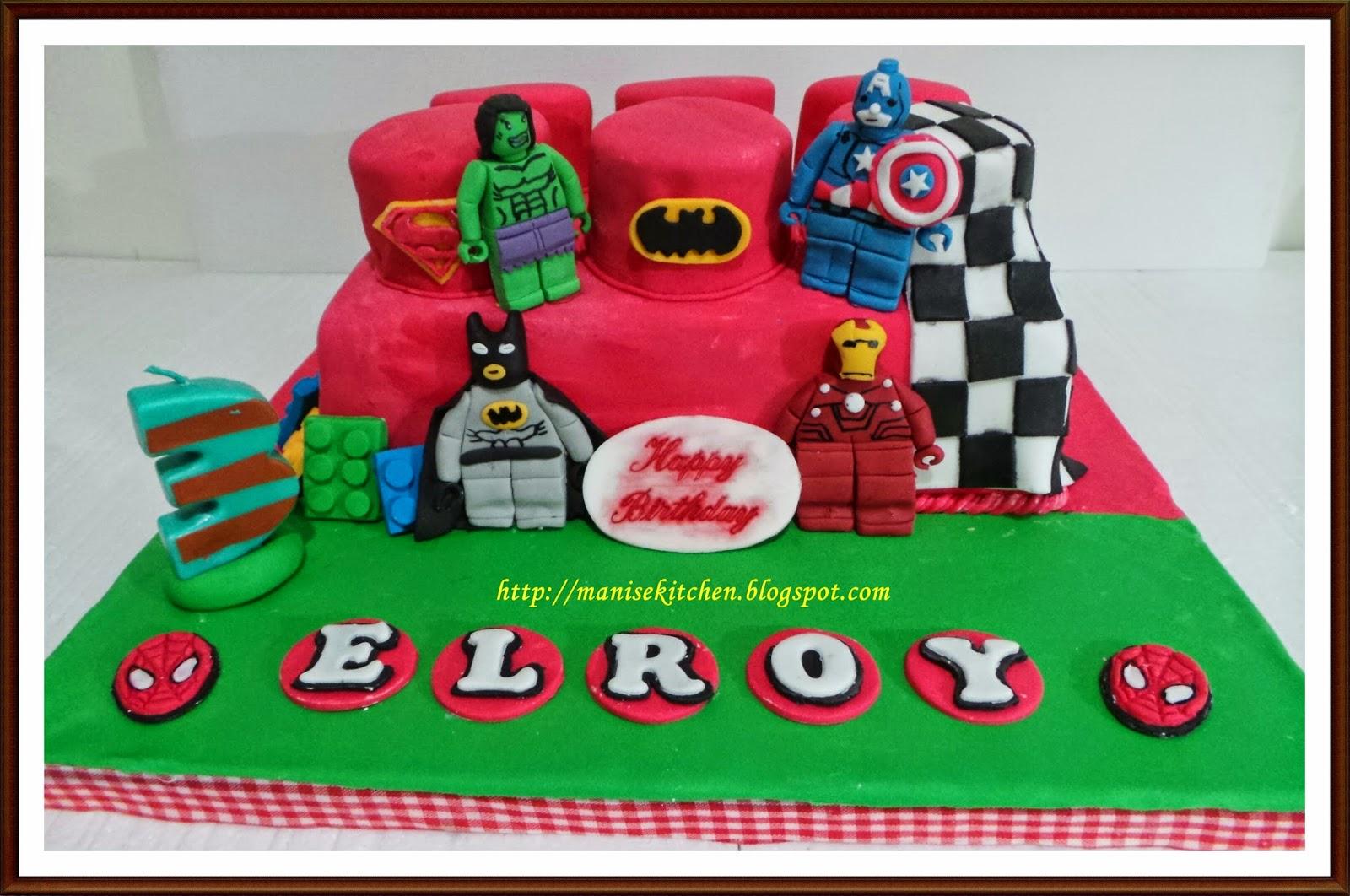 Manise Kitchen Another Lego Superhero Birthday Cake For Elroy Lopulisa