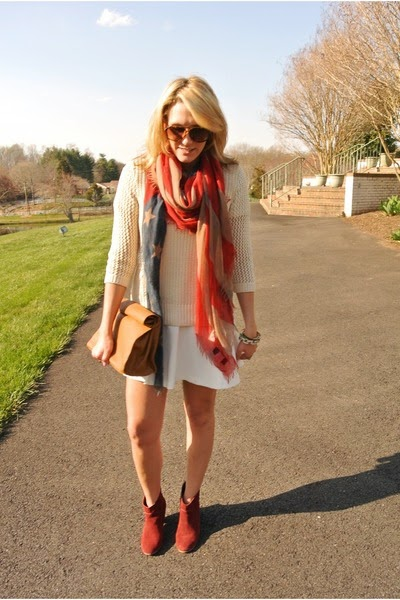 Street Wear, 4th of July Outfit, US Flag Scarf, Fashion Blogger, Red Boots
