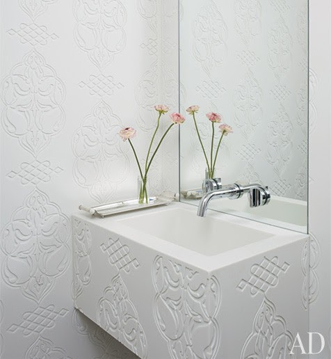 To Da Loos: Wallmount Sink Faucet Backsplash Ideas Plus Tips For Buying Wallmount Faucets