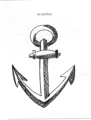 Pen and Ink anchor by ©Ana Tirolese