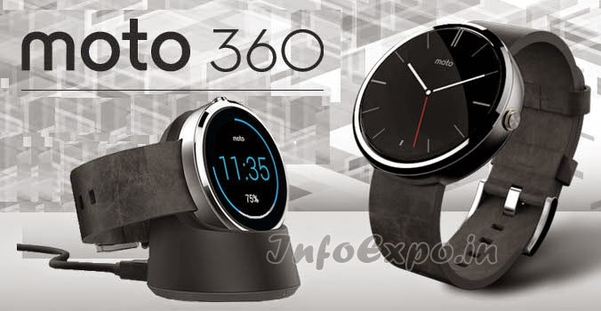 Motorola Moto 360 Smartwatch:1.56 inch Round, Water Resistant Android Smartwatch from Motorola