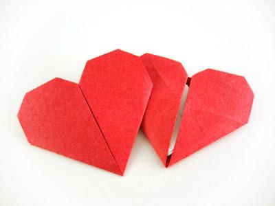anleitung origami herz mit geheimfach handmade by frizzi. Black Bedroom Furniture Sets. Home Design Ideas