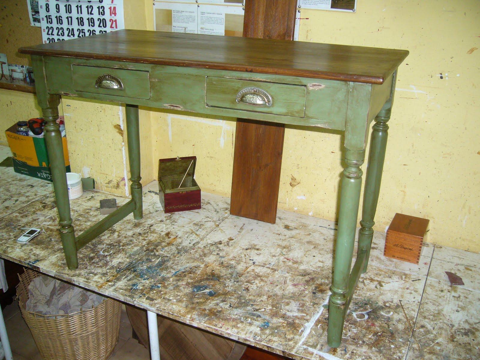 muebles patinados tres verdes la restauradora de la