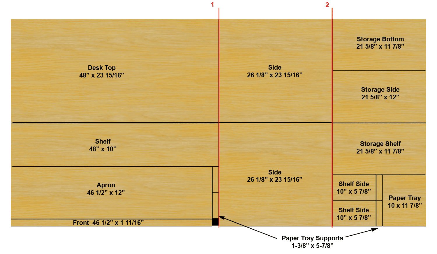 Woodwork Plywood Desk Plans Easy Pdf Plans