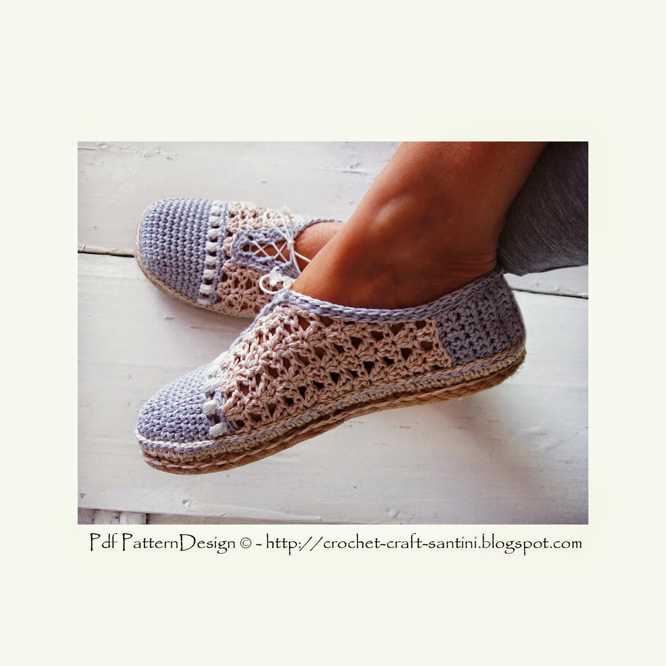crochet slipper shoes with matching shopping bag new pattern