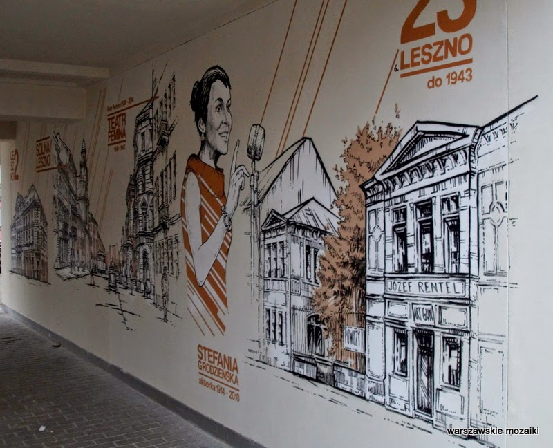 Stefania Grodzieńska na Muranowie Warszawa murale warszawskie karmelicka solidarności ściana graffiti