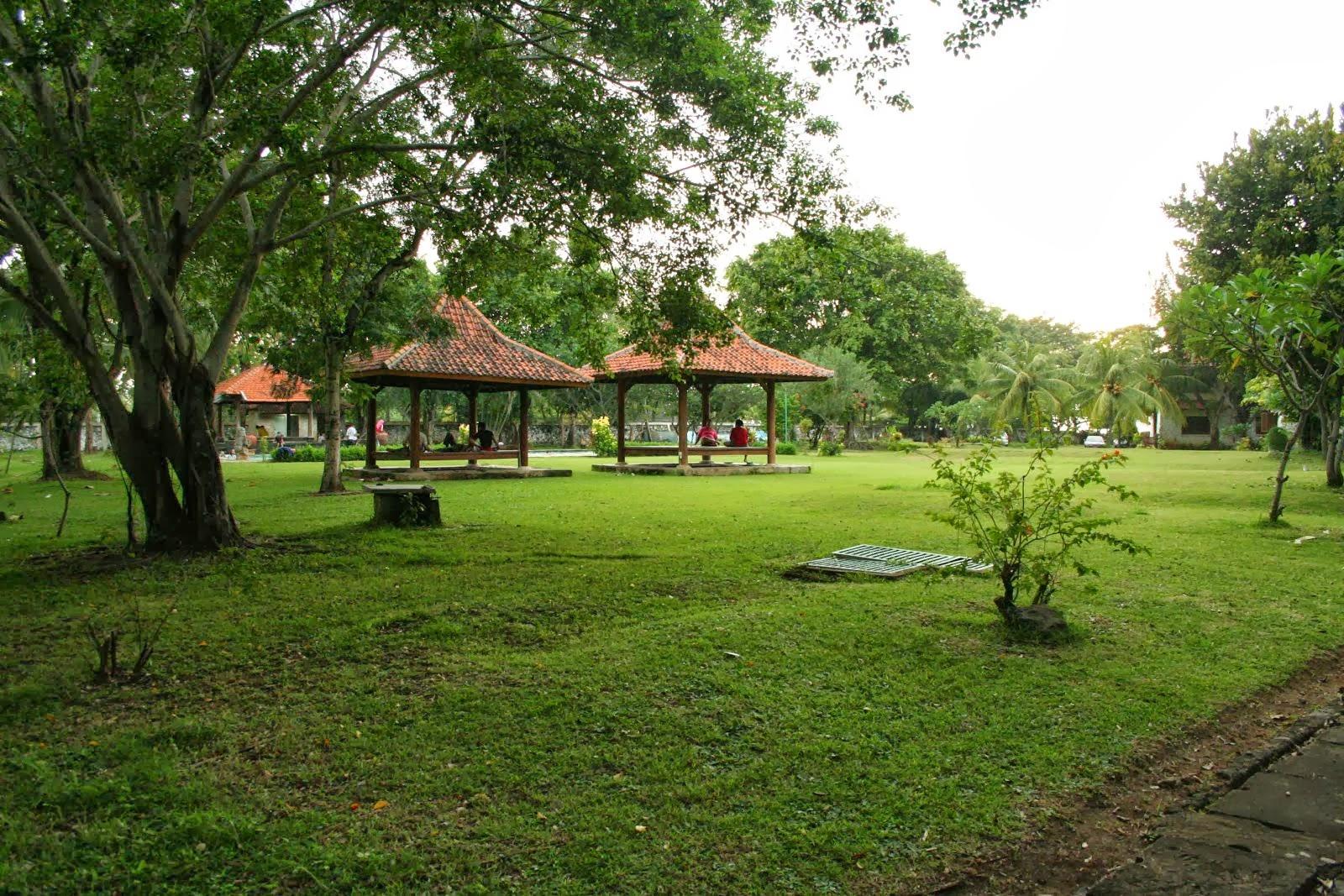 Taman kolam renang villa