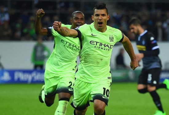 Borussia Monchengladbach 1 x 2 Manchester City - Grupo D / Champions League 2015/16