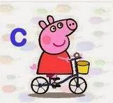 Alfabetos de Peppa Pig.