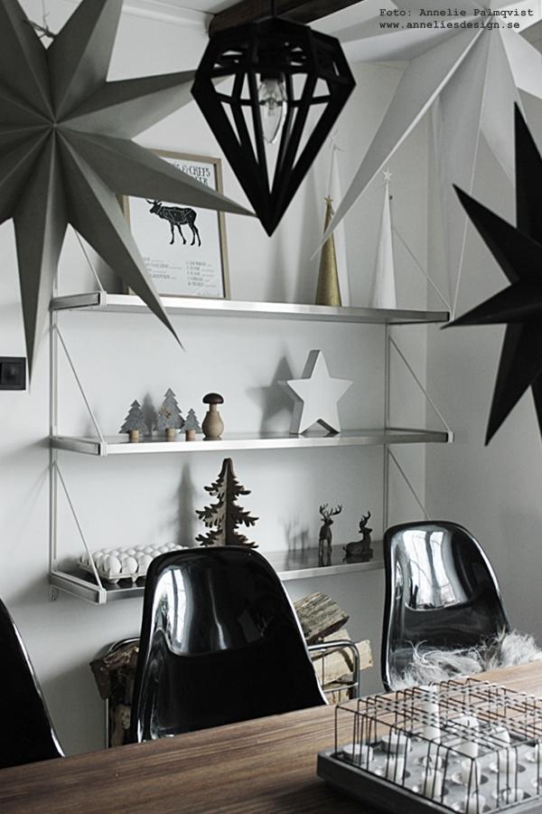 jul, julpynt 2015, julen, julens, advent, adventsstjärnor, stjärna, stjärnor, svart och vitt, stjärnor i taket, gran, granar, Oohh, dekoration, pynt, kök, köket, köksbild, döden, tvåfota design, poster, posters, tavla, tavlor, svart och vitt, svartvit, svartvit, vit, vtia, styckningsdetaljer, styckningsschema, hjort, julklappstips, köksinspo, inspiration, inredning, blogg, annelies design,