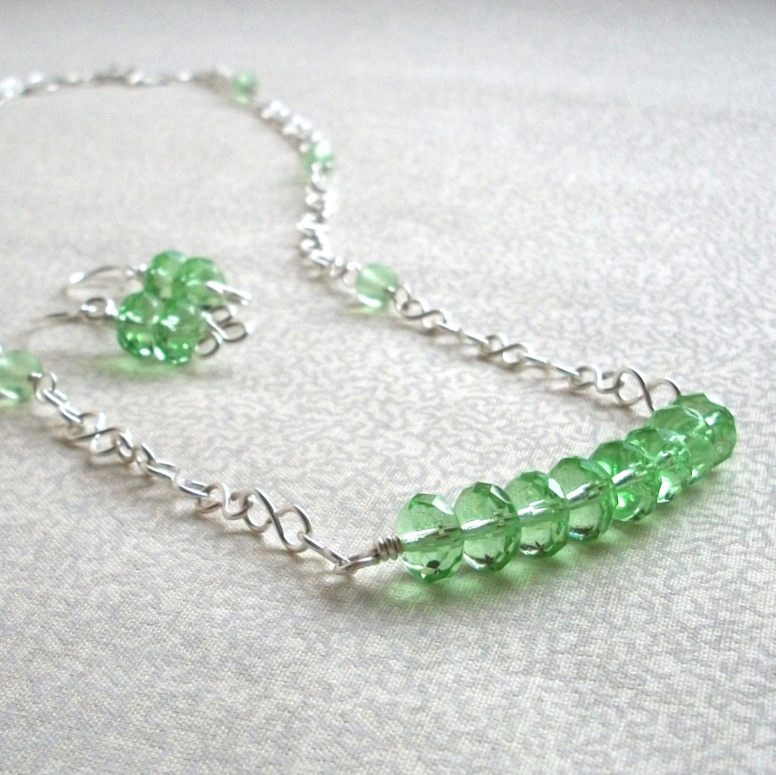 Peridot Green Custom Jewelry Set