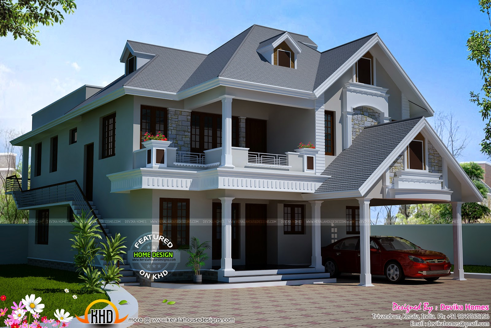 Western Style Villa By Devika Homes Kerala Home Design