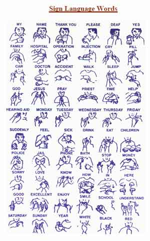 Sign Language english subjects in college