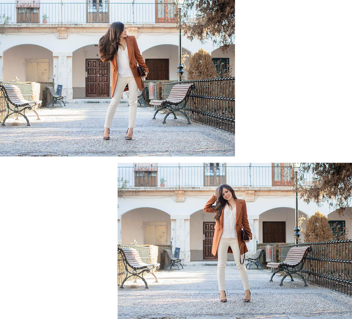 Look total white con tacones de leopardo de Lolita Blu