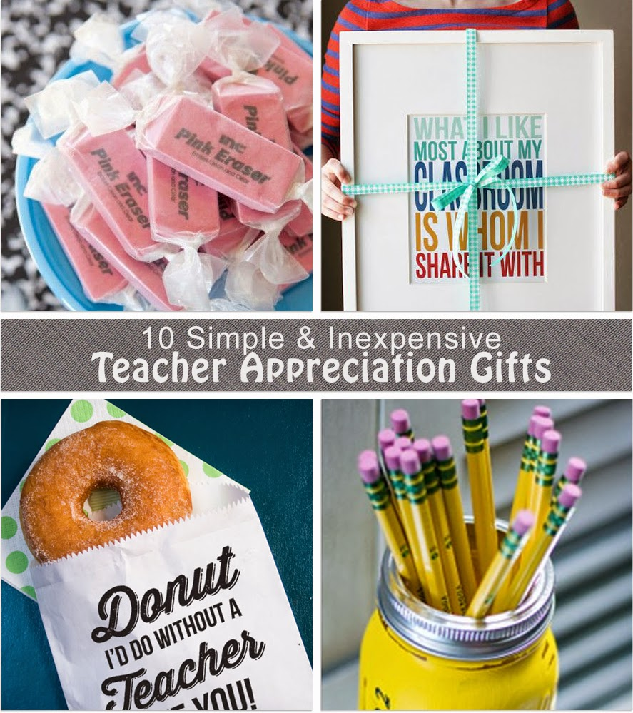 Crafty Teacher Lady: 10 Inexpensive Teacher Appreciation Gift Ideas: www.craftyteacherlady.com/2014/05/10-inexpensive-teacher...