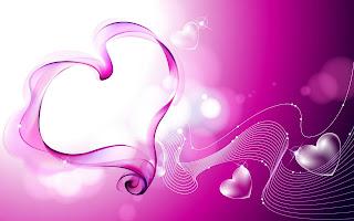 Paarse abstracte liefdes achtergrond