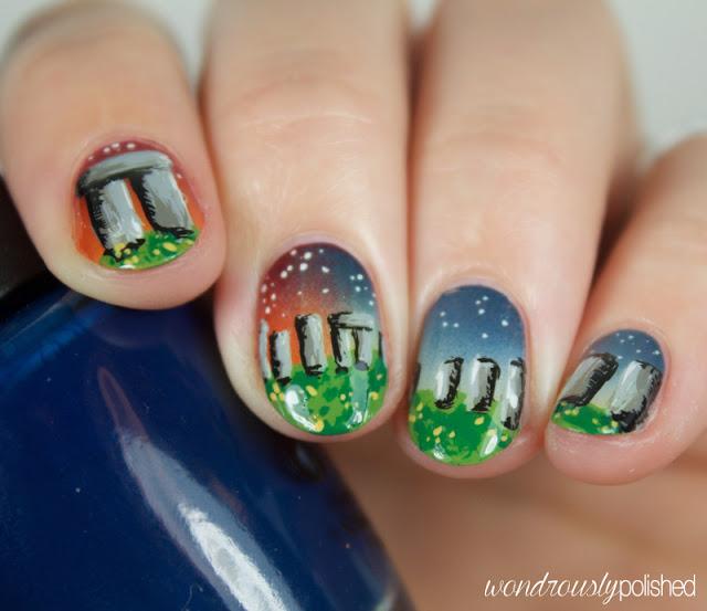 outlander nail art
