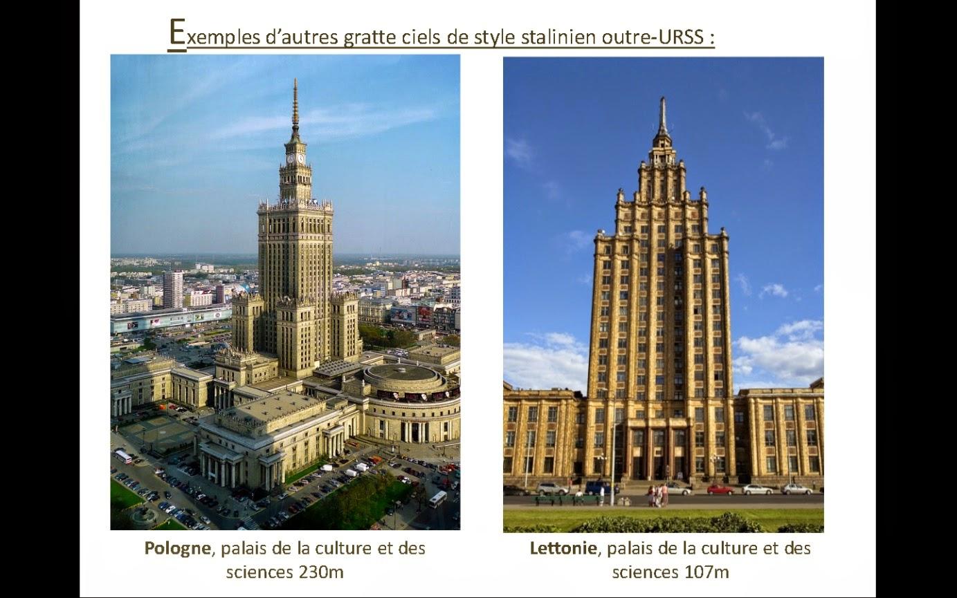 Histoire g ographie emc michel architecture stalinienne for Architecture urss
