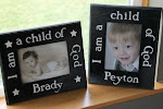 "Personalized ""I am a child of God"" Frame"