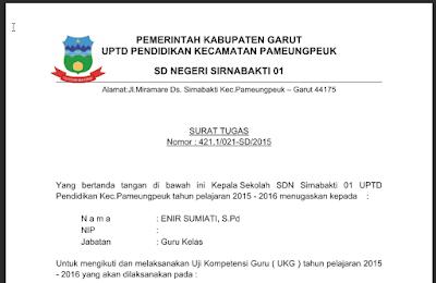 Surat Tugas UKG 2015