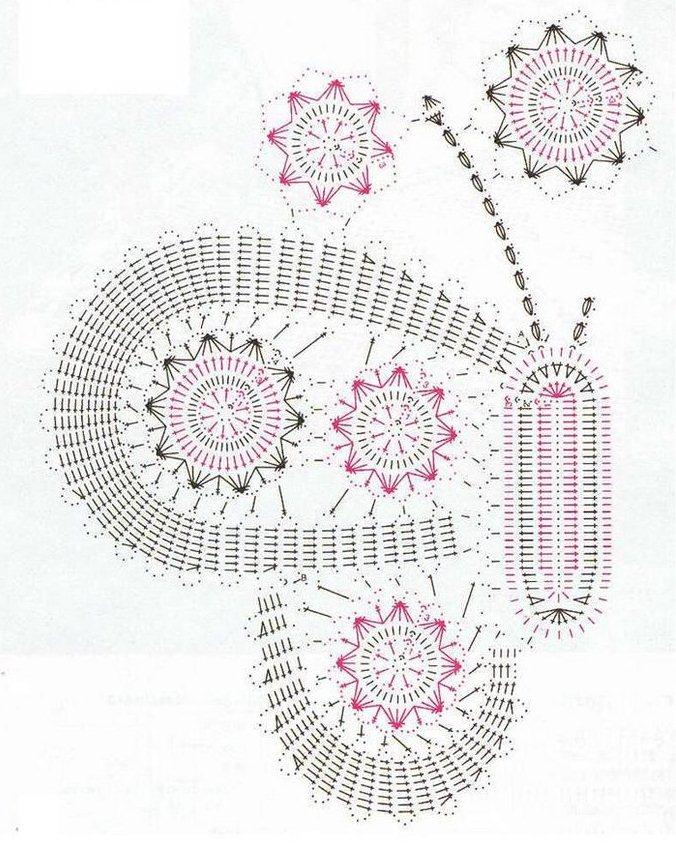 Solo esquemas y diseños de crochet: MARIPOSA EN ENCAJE DE BRUJAS