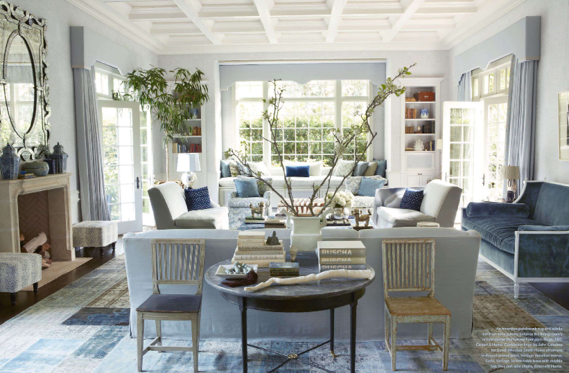 Splendid sass windsor smith and steve giannetti design for Magazine living room ideas