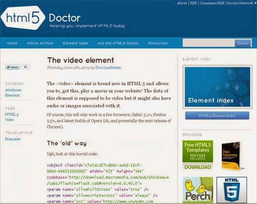 The video element