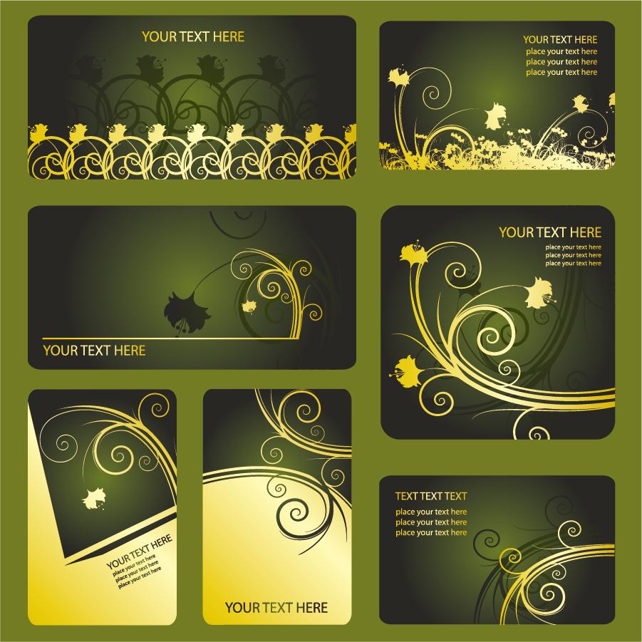 メンバーズ カードのテンプレート membership cards template vector イラスト素材