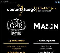 Guns N' Roses y Marilyn Manson al nuevo festival Costa del Fuego de Benicassim