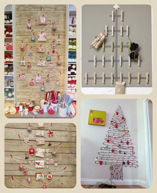 decoracao de arvore de natal natural:Árvore de Natal de parede ~ Arte De Fazer
