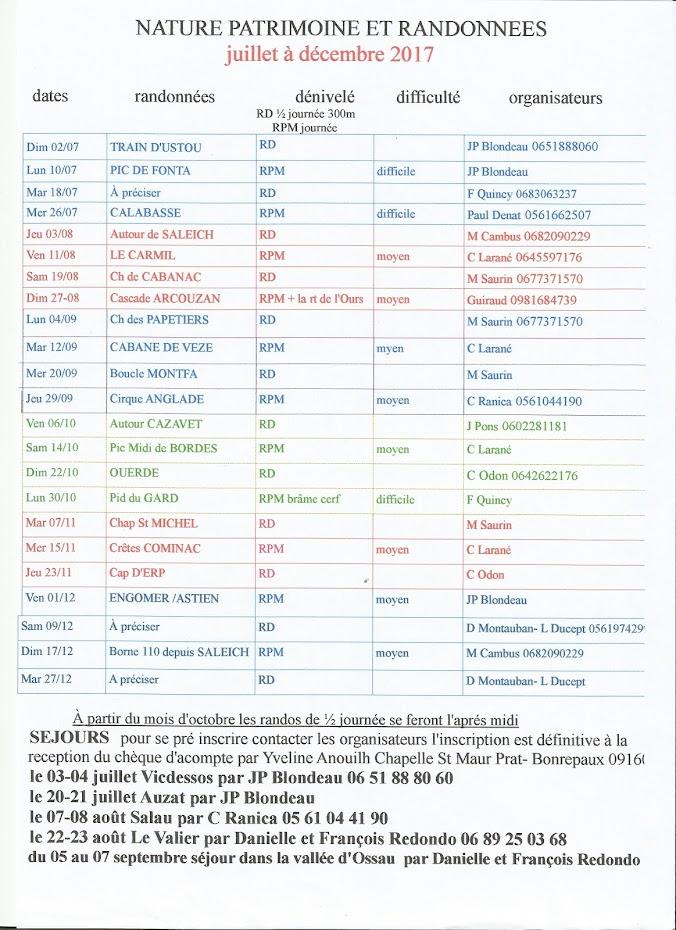 calendrier 2017
