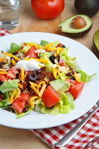 the taco salad has to be one of my favourtite salads and yesterday it ...