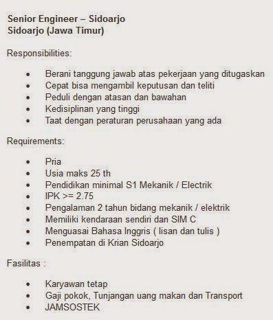 lowongan kerja pt swts indonesia sidoarjo