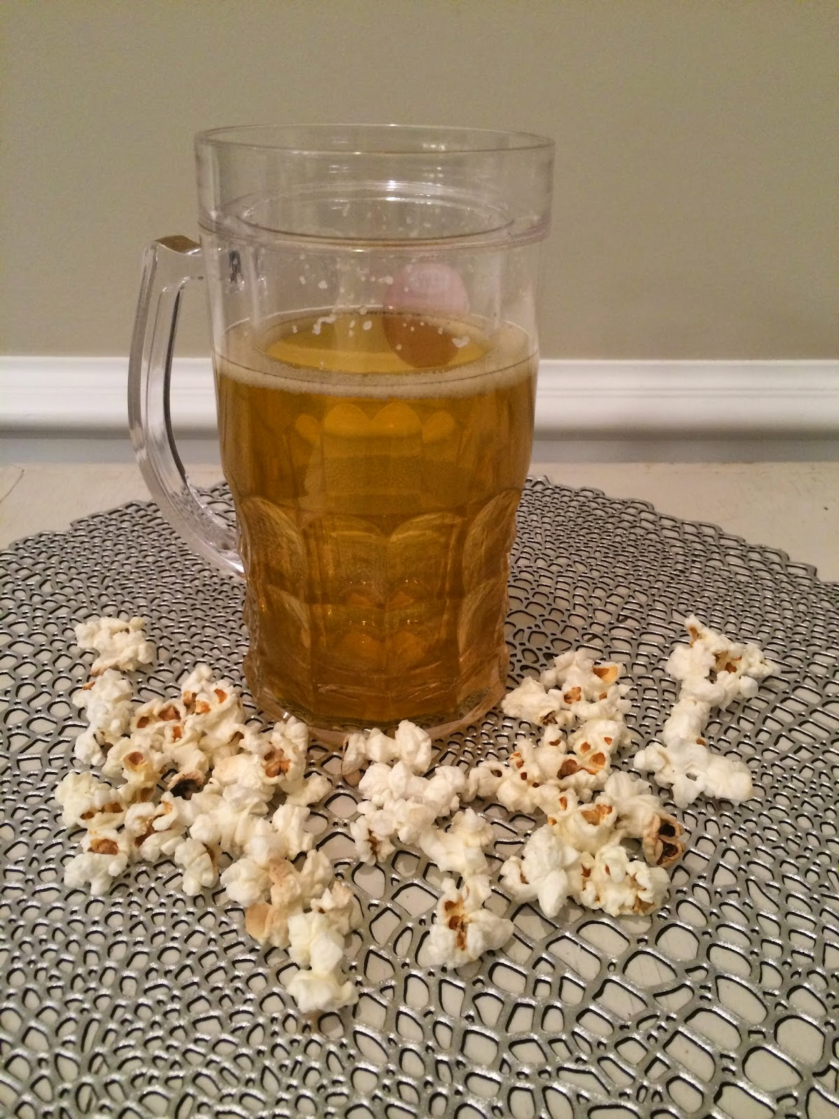 Beer and Popcorn...a great snack ;)
