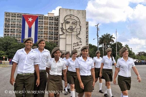 Homenaje al guerillero Heroico Ernesto Che Guevara en la Plaza de la Revolucion en La Habana.