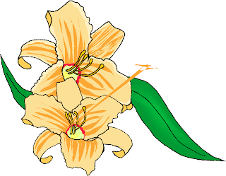 Two Simple Yellow Flowers Clipart