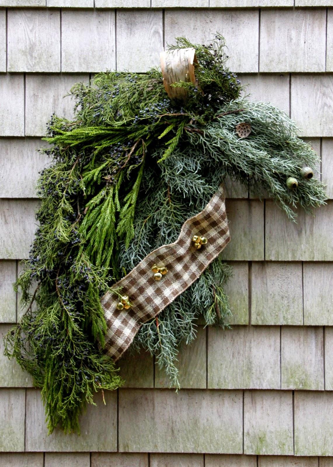 Head Wreath Diy Diy Holiday Horse Wreath