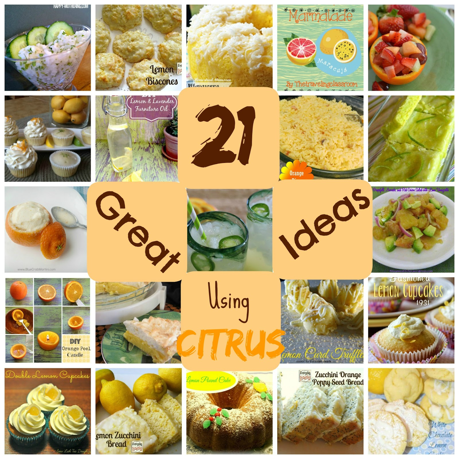 21 Great Ideas Using Citrus a roundup