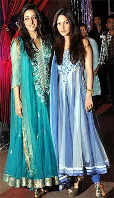 Riya and Raima at Esha Deol's Music Ceremony