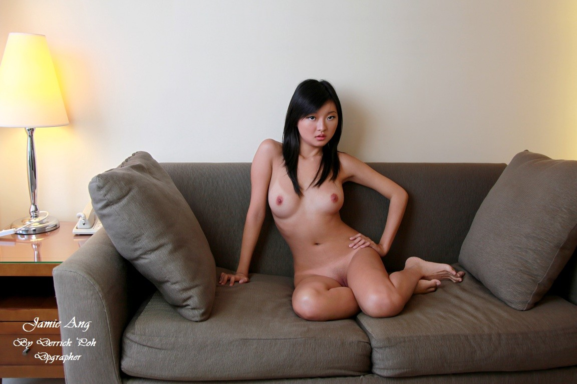 ... photographs of Jamie Ang with her clothes on while doing some less