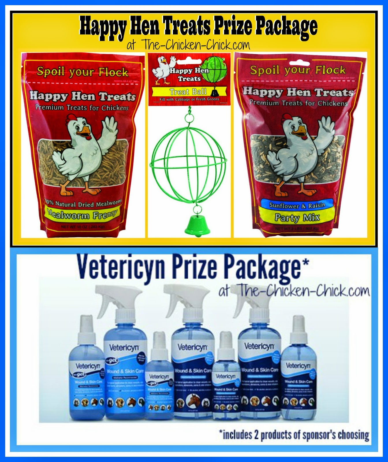 Happy Hen Treats Prize Package Giveaway and Vetericyn Prize Package Giveaway