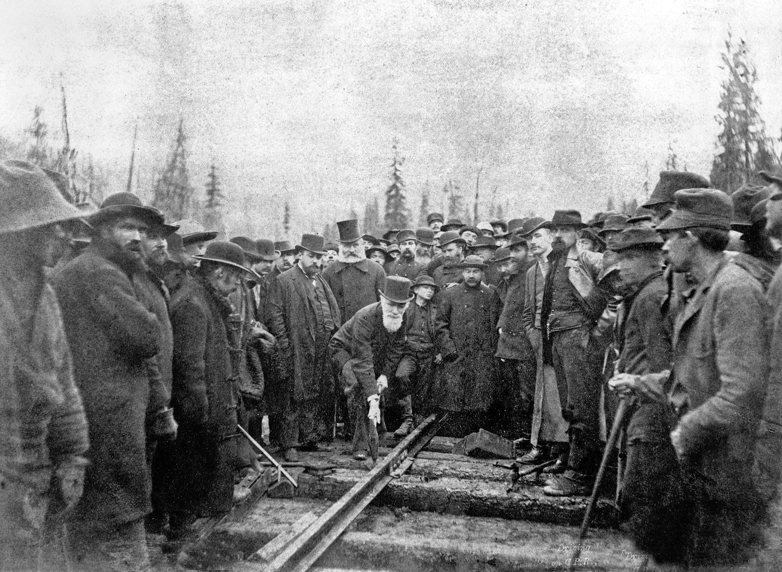 Completion of Canadian Pacific Railway in 1885
