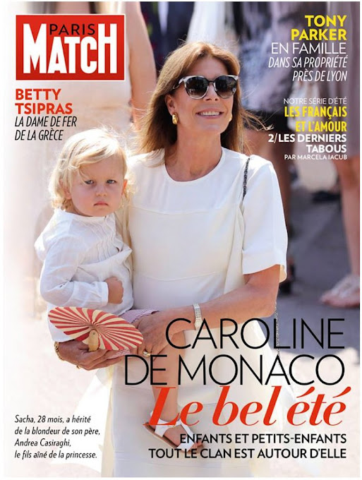 Princess Caroline of Hanover with her grandson Sasha Casiraghi