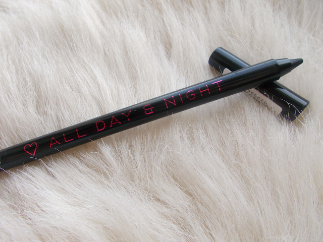 I ♡ heart makeup all day & night black eyeliner pencil one sin too many review swatches