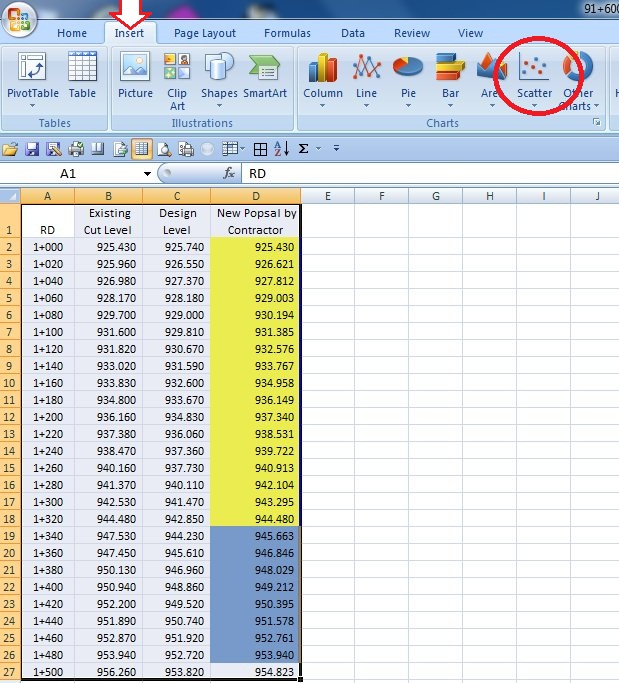 how to create a scatter graph in excel