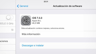 Nueva actualización iOS via OTA para iPhone, iPad y iPod Touch