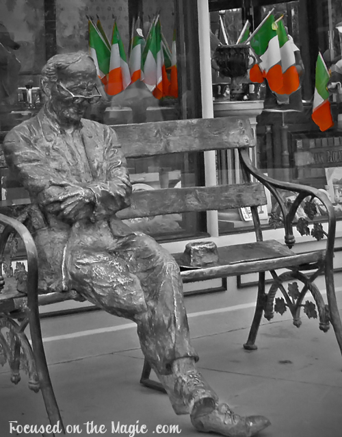Patrick Kavanagh, Irish Poet, Bronze Statue, Downtown Disney