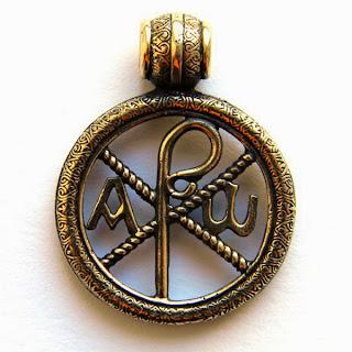 купить кулон хризма христианство бронза латунь украина