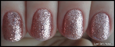 nubar pink glitter swatches and review